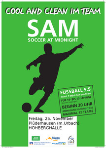 25. November: Soccer at Midnight